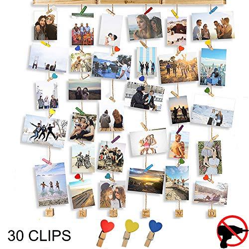 Cornici foto multiple da parete - portafoto da parete multiplo - porta foto da parete multiplo da appendere - portafoto con mollette - cornici foto da appendere - cornice foto - loolha by pucico