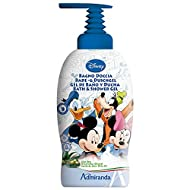 Disney 71064 - Gel de baño y ducha, diseño Mickey & Friends, aroma Aloe Vera y aceite de oliva
