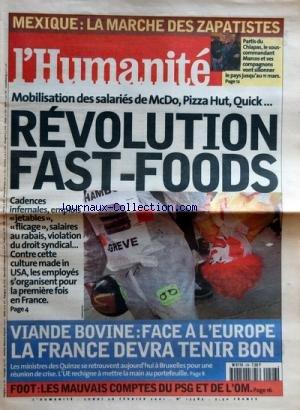 humanite-no-17585-du-26-02-2001-mexique-la-marche-des-zapatistes-mobilisation-des-salaries-de-mcdo-p