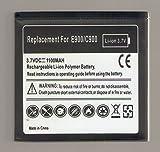 Batteria compatibile LG LGIP-690F - 1100mAh - Optmus 7, E900, C900, Quantum, C900k, Optimus 7Q, E906, Jil Sander