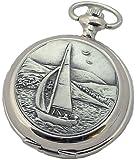 A E Williams 4840 Sailing mens quartz pocket watch with chain