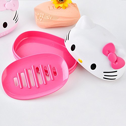My Party Suppliers HELLO KITTY Soap Case / Cartoon Bathtub Soap Box / Soap Dish / Soap Stand Bathroom / Soap Case for kids / Children Soap Holder  available at amazon for Rs.599