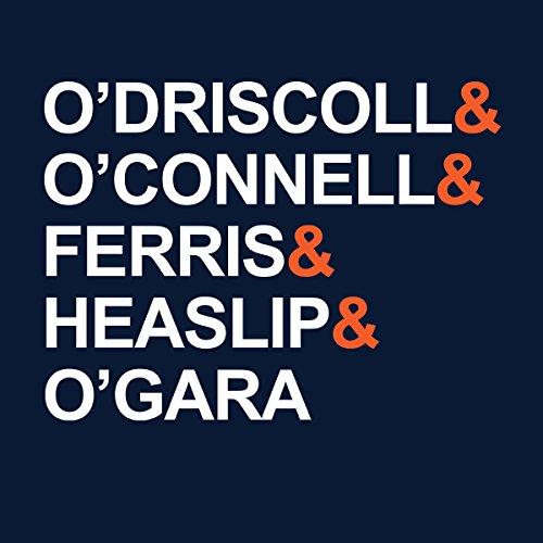 O'Driscoll O'Connell Ferris Heaslip O'gara England Team Men's Hooded Sweatshirt Navy blue
