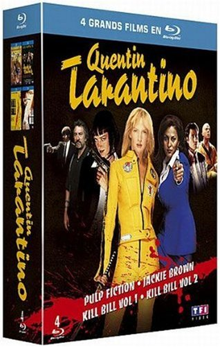 Quentin Tarantino - Coffret - Pulp Fiction + Jackie Brown + Kill Bill Vol. 1 + 2 [Blu-ray]