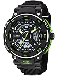 Dunlop-Herren-Armbanduhr, Analog, Digital, Kunststoff, schwarz, DUN-5673-3