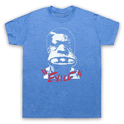Inspiriert durch Rolling Stones Exile On Main Street Unofficial Herren T-Shirt Jahrgang Blau