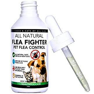 All Natural Flea Fighter for Dogs & Cats | Powerful Repellent for Fleas Ticks & Lice | The Best Solution For The Healthy Treatment of Pets | 1 Year Supply All Natural Flea Fighter for Dogs & Cats | Powerful Repellent for Fleas Ticks & Lice | The Best Solution For The Healthy Treatment of Pets | 1 Year Supply 51UwoKeOvJL