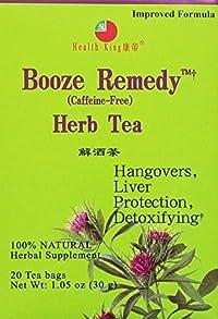 Health King Medicinal Teas Booze Remedy Herb Tea Bags, 20 Count