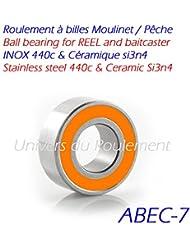Rodamiento a bolas Spinning Pesca Reel Bearing acero inoxidable y de cerámica SMR 6374848595105104115687688137117693, 6x12x4mm