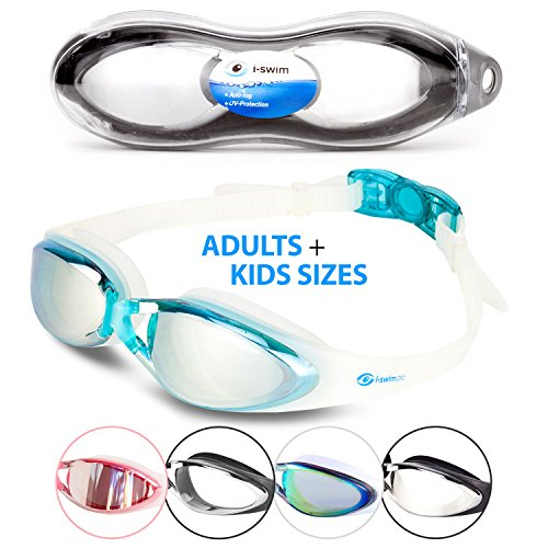 i-Swim Pro Swimming Goggles - Anti Fog Technology - Crystal Clear Vision - Watertight - Comfortable...