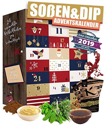 ADVENTSKALENDER mit für Saucen & Dips I besondere Gewürzmischungen für Dips zum selber machen I Adventsüberraschung für Genießer Männer Frauen Hobbyköche