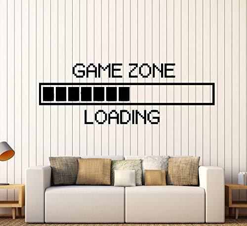 Game Zone Computer Gaming Wandtattoos Vinyl Wohnkultur Loading Videospiel Wallpaper Art Murals Dekoration 130x51cm