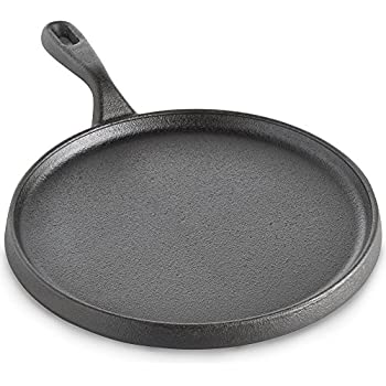 Pre-seasoned Cast Iron 25cm Crepe Pan – Pancake Skillet with Naturally Non-Stick Surface