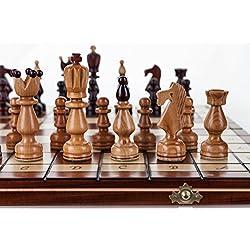 Presidente - grande 45cm/17,8 en hechos a mano el conjunto del ajedrez madera cerezo