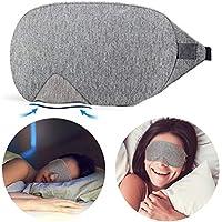Schlafmaske, Qcool Augenmaske Damen und Herren für Reise schlafbrille Schlaf Zuhause - Grau preisvergleich bei billige-tabletten.eu