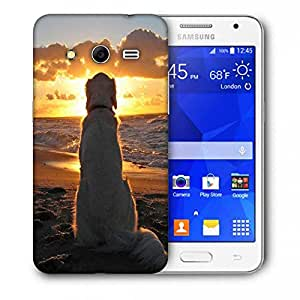 Snoogg Dog Watching Sunset Printed Protective Phone Back Case Cover For Samsung Galaxy Core 2 / Core II G355H