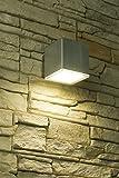Moderne Wand-Außenleuchte in 7,0W 230V Hofleuchte aus aus wetterfestem Edelstahl & Polycarbonat Terrasse/Garten Garten Weg Terrasse Lampen Leuchte Beleuchtung