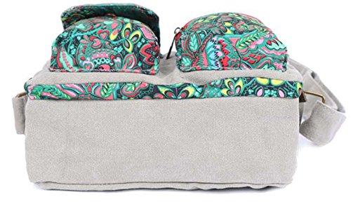 Keshi Leinwand neuer Stil Damen Handtaschen, Hobo-Bags, Schultertaschen, Beutel, Beuteltaschen, Trend-Bags, Velours, Veloursleder, Wildleder, Tasche Mehrfarbig