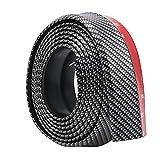 EFORCAR Auto-vorderer Stoßdämpfer-Gummi-Rock-Schutz-Lippe-Splitter-Körper Anti-verkratzender Spoiler-Schutz-Carbon-Faser 250 cm / 8.2Ft (Schwarz)