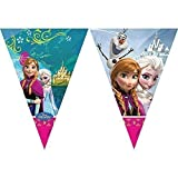 Frozen Triangle Flag Banner 9 Inches Disney Characters Elsa Anna Olaf Brand New Official Licensed Item 72025