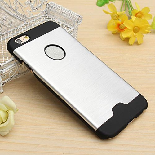 MŽtal Aluminium brossŽ PC Hard Cover Skin Case pour iPhone 6 rose