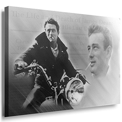 Qn Poster (Julia-art Leinwandbilder - James Dean Bild 1 teilig - 120 mal 80 cm Leinwand auf Rahmen - sofort aufhängbar ! Wandbild XXL - Kunstdrucke QN.65-6)