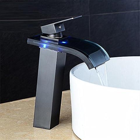 modylee nuovo stile Design a LED che cambia colore acqua di rubinetto miscelatore da lavabo bagno rubinetto per lavabo rubinetto lh-16801, 1