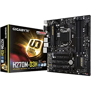 Gigabyte ga-h270m-d3h LGA1151Intel micro ATX a  vie Crossfire DDR4USB 3.0M.2Smart fan 5scheda madre