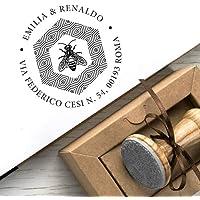 Tampon Adresse Personnalisé pour Mariage Cadeaux Personnalisable Nid Abeille