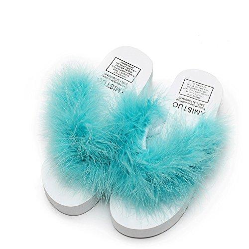 Cailin Sandals, Débardeurs de mode Chaussons femme glissière d'été Chaussons à talons hauts en plein air avec 7 couleurs ( Couleur : #6 , taille : EU38/UK5.5/CN38 ) #5