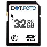 Dot.Foto - 32 Go Carte mémoire SDHC Classe 10 - 20Mo/sec pour Nikon Coolpix S Appareils photo [Pour la compatibilité voir la description]