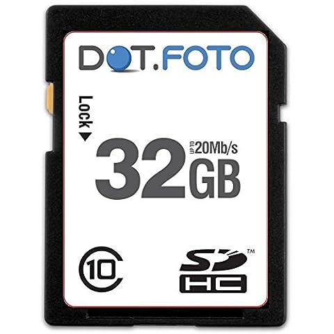 Dot.Foto - 32 Go Carte mémoire SDHC Classe 10 -