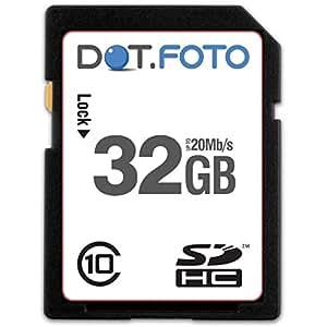 Dot.Foto - 32 Go Carte mémoire SDHC Classe 10 - 20Mo/sec pour Sony Cyber-shot DSC-H/HX Appareils photo [Pour la compatibilité voir la description]