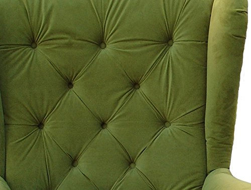 Ohrensessel Grün Olivgrün LUDWIG Loungesessel Chesterfield -