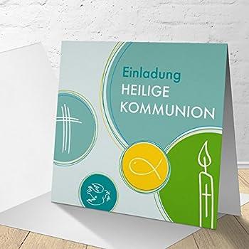 einladungskarten kommunion vorlagen bedeutung 5 karten quadratische klappkarte 145x145 inkl. Black Bedroom Furniture Sets. Home Design Ideas