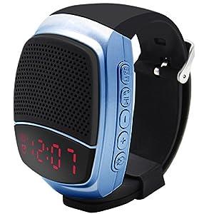 Svpro Wireless Bluetooth Lautsprecher Armbanduhr Tragbare Sport Armband MP3-Musik-Player,Freisprechfunktion,Telefon-Anti-Verlorene,Karten-Unterstützung,Selbstanslöser,USB-Unterstützung