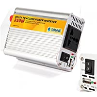 350 Watt portatile + USB DC a AC 220 V auto Power Inverter
