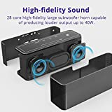 Bluetooth Speakers, Tronsmart Mega 40W Bluetooth 4.2 Wireless Speaker with 15-Hour Playtime, TWS, Dual-Driver, Built-in Mic, NFC, Deep Bass, LED Backlighting for Outdoor Indoor