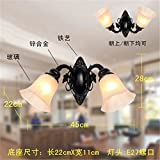MONEYY Continental antique iron wall lamp bedroom bedside lamp in the living room Mirror Front Lamp aisle stairs led wall lamp