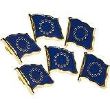 MC-Trend® Europa Fahne Flagge Europe europäische Union (Europa Pin 6 Stück)