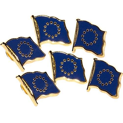 MC-Trend® Europa Fahne Flagge Europe europäische Union (Europa Pin 6 Stück) -