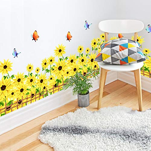 Baseboard Aufkleber Material DIY Blume Wohnkultur Für Wohnzimmer Glas Fenster Dekoration ()