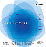 D\'Addario Bowed Corde seule (Sol) pour contrebasse orchestre D\'Addario Helicore, manche 1/2, tension Medium