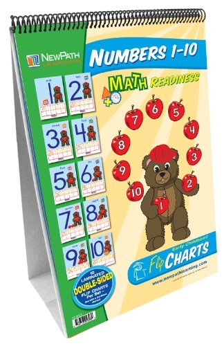 NewPath Learning Numbers 1-10 Curriculum Mastery Flip Chart Set, Early Childhood by New Path Learning (Set 7-charts)