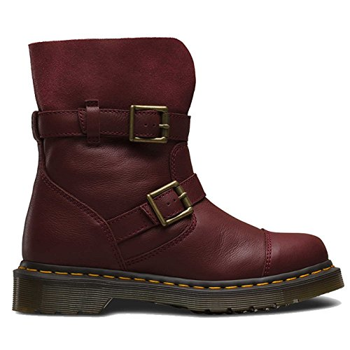 Dr. Martens KRISTY Cherry Red Virginia Red Slouch Rigger bateau 20876600