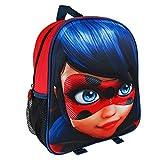 Miraculous Les Aventures De Ladybug Et Chat Noir 2100-1975 Sac à Dos 3D, 31 Centimetres, Fille, École, Multicolore