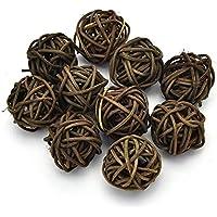 Greenlans - 100Getrocknete Rattan-Kugeln für die Dekoration bei Hochzeiten, Partys, im Hotel, für Ornamente, zum Basteln und andere Anlässe, braun, 3cm