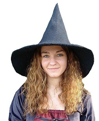 - Unisex Hexen- und Magierhut schwarz (Schwarze Hexe Hut)