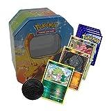 Pokemon-Starter-Pack, 50 Karten, inklusive Hologramm- und seltene Pokomen-Karten, inklusive Dose