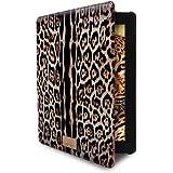 Just Cavalli JCIPAD4LEOPARD1 - Funda tipo libro para iPad 2, 3 y 4, diseño de piel de leopardo